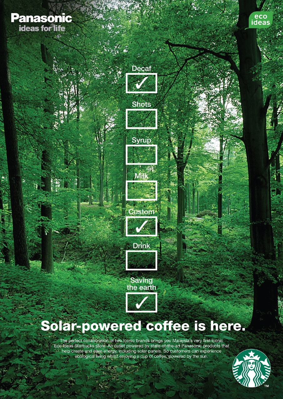panasonic and starbucks eco collaboration