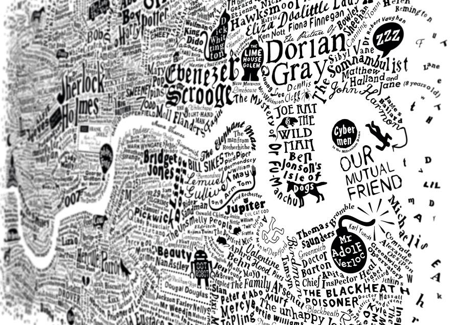Literary London Map